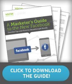 Free Facebook Marketing Guide from Vocus! More Facebook tips at http://getonthemap.us/facebook/blog #573tips #facebook