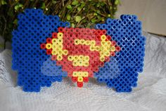 Superman XL Perler Bow
