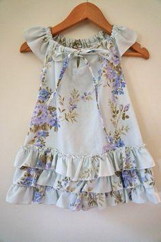 slit front peasant dress with flutter sleeves