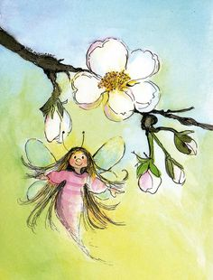 Angel Illustration, Cute Illustration, Watercolor Flowers, Watercolor Art, Creative Arts And Crafts, Flower Fairies, Fairy Dust, Disney Drawings, Illustrations