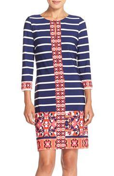 Eliza J Stripe & Patterned Shift Dress (Regular & Petite) available at #Nordstrom