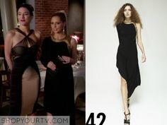 Ringer: Season 1 Episode 2 Bridget's Black One Shoulder Dress