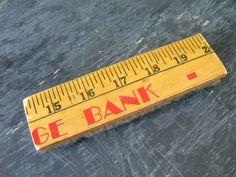Yardsticks and Rulers Upcycled eraser for chalk board