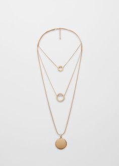 Pendant triple necklace