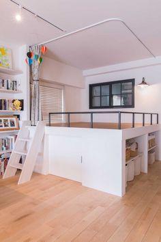 Small Room Design Bedroom, Bedroom Loft, Home Decor Bedroom, Small Dorm, Small Condo, Studio Apartment Living, Cool Room Designs, Cool Kids Bedrooms, Diy Platform Bed