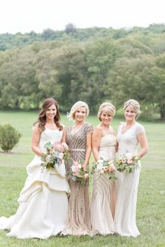 We love this combo: http://www.stylemepretty.com/tennessee-weddings/brentwood-tennessee/2015/05/12/vintage-chic-southern-mansion-wedding/ | Photography: Glass Jar - http://glassjarphotography.com/