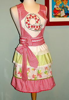 My Vintage Mending: The finished product...Gingham Glory