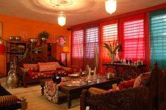 Decoração hindú sala de estar
