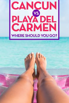 I am DYING to go to Cancun and Playa Del Carmen!! Check out these photos, they are nuts! These are 2 of the best beach and travel destinations in Mexico, and I am so torn between the two haha. Why not do both? ;)