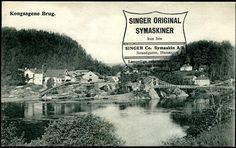 SINGER CO. SYMASKIN AS. Strandgaten Hamar. På kort fra Kongesagene Brug. Brevkort.
