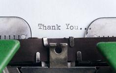 Gratitude journal typewriter