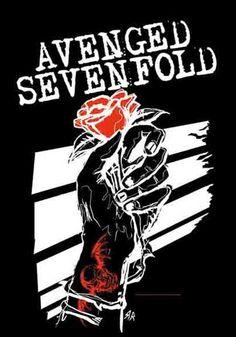 Avenged Sevenfold- Rose Hand Flag/Textile Poster
