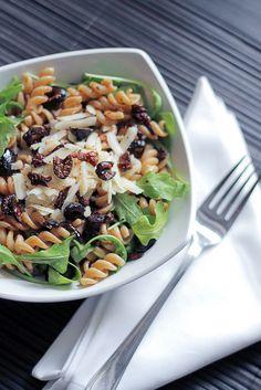 Parmigiano cheese, Black Olives and Rocket Wholegrain Fusilli by Salad Pride, via Flickr