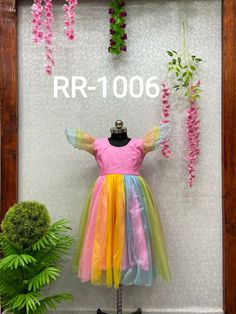 Price Rs 740 + Shipping extra WE ARE LAUNCHING NEW DESIGNER RAINBOW KIDS FROCK Frock Details Fabric: SOFT PURE TISSUE NET AND BACK SIDE FANCY BEAUTIFUL FLOWER Inner:- 2 LAYER, SILK AND COTTON BASE WITH CAN CAN Size Years:- 1 TO 2 Chest Size: 24 INCHES Length:- 20 INCHES Size:- 18 Years: 2 to 4 Chest Size:- 25 INCHES Length:- 24 INCHES Size:- 22 Years: 4 to 6 Chest Size:- 28 INCHES Length:- 27 INCHES Frocks For Girls, Kids Frocks, Cute Girl Outfits, Girl Online, Girls Wear, Lehenga Choli, Beautiful Flowers, Boy Or Girl, Aurora Sleeping Beauty