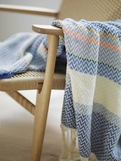 Norwegian design. The original Bunad Blanket designed by Andreas Engesvik. Inspired by Oslobunad. Produced in Norway for Fram Oslo.