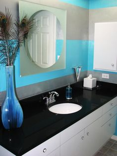 Bold Stripes - 20 Colorful Bathrooms From Rate My Space on HGTV