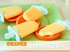 Homemade orange creamsicles. No High fructose corn syrup or polysorbate 80  Just orange and creamy goodness.