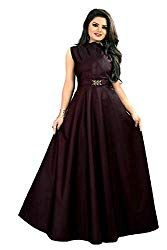 vaidehi creation Women's Twill Tafeta Anarkali Style Gown for Girl (Navyblue) 15 Dresses, Nice Dresses, Girls Dresses, Dresses For Work, Indian Wedding Gowns, Indian Gowns, Indian Wear, Ethnic Gown, Anarkali Gown