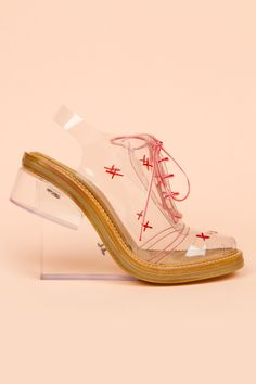 Simone Rocha : high perspex brogues