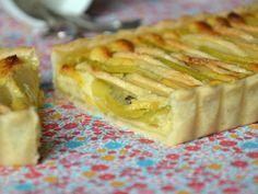 Tarte aux pommes & kiwis et à la crème pâtissière { ultra-légère }