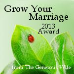 2013 Grow Your Marriage Award