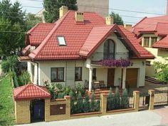 Village House Design, Bungalow House Design, Village Houses, Roof Colors, House Colors, Home Interior Design, Exterior Design, House Plans Mansion, Architectural House Plans
