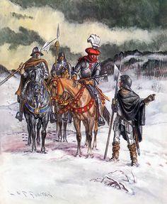 """""""La Cavalerie Suisse au matin de la bataille de Nancy, le 5 janvier 1477"""""""