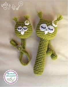 Crochet rattle, no pattern Crochet Bib, Crochet Baby Toys, Crochet Amigurumi, Crochet Cross, Newborn Crochet, Cute Crochet, Amigurumi Patterns, Crochet For Kids, Crochet Dolls