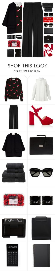 """""""It Could Be So Simple, I Could Be So True To You"""" by holunderbluete ❤ liked on Polyvore featuring Moschino, Miss Selfridge, Les Copains, Prada, Marni, Christy, Yves Saint Laurent, NARS Cosmetics, LEXON and Muji"""