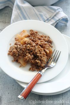 GF Apple Crisp (secret ingredient is quinoa flakes for the topping!). I really want to make this for fall :)