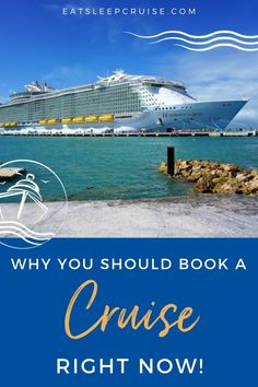 Instead of stressing over the unknown, why not begin planning your 2021 cruise(s) right now. In fact, there are several reasons why now is the perfect time to book a 2021 cruise. We just booked our first cruise for next year and certainly have plans for more. Here are our seven reasons to why you should book a cruise for 2021 right now. #cruise #cruiseplanning #cruisetips #eatsleepcruise