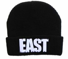 EAST Fisherman Rib Embellished Beanie Acrylic 3d Block Lettering Black Exclusive  Price: $14.99  Sale: $9.99 & FREE Shipping on orders over $35. Details    You Save: $5.00 (33%)