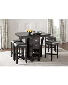 Rooms To Go Ellwood Black 5 Pc Bar Height Dining Set From Rooms To Go