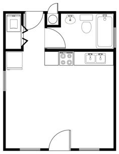 Alternate Floor Plans for the Prospector's Cabin - Tiny House Design on small southern house, small contemporary house designs, small desert house designs, small compact house designs, small sustainable house designs,