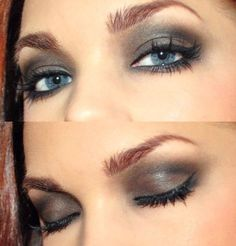 Eye Makeup For Blue Eyes/Repin by Inweddingdress.com #eyemakeup