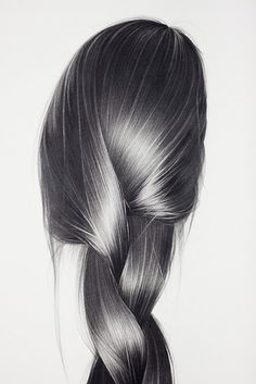 Hair illustrations by hong chun zhang hair рисование волос, эскиз прически, Pencil Sketch Drawing, Realistic Pencil Drawings, Pencil Art, Charcoal Drawings, Graphite Drawings, Realistic Hair Drawing, Long Hair Drawing, Art Sketches, Art Drawings