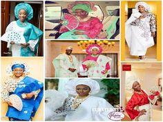 yoruba brides in assorted aso-oke styles