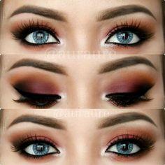 "Beautiful eye makeup by @auraure ---> Lens : @desioeyes Mint Touch Brows : @anastasiabeverlyhills Dipbrow ""Dark Brown"" Eyeshadows : @makeupgeektv Bitten, Chickadee, Immortal, and MAC Orange Eye Liner : @makeupgeektv ""Immortal"" Black gel Liner & ""Cottontail"" for tear duct All brushes from @morphebrushes"
