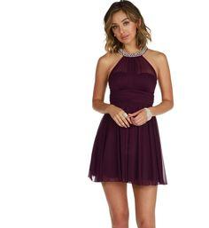 Pre-Order: Kylie-Plum Homecoming Dress