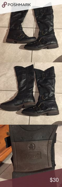 Black buckle boots Super cute black boots with buckle. Have worn a few times just not my style Shoes Heeled Boots