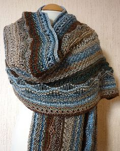 Rock Pool Wrap, knitted by me. knit-sew-crochet