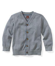 Look at this #zulilyfind! Bedford Blue Kavi Stripe Pima Cotton Cardigan - Toddler & Boys #zulilyfinds