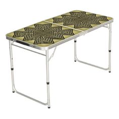 Art Deco Black and Gold Diamond Pattern Beer Pong Table - gold gifts golden customize diy
