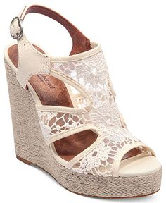 Lucky Brand Women's Riedel Lace Platform Wedge Sandals - Lucky Brand - Shoes - Macy's