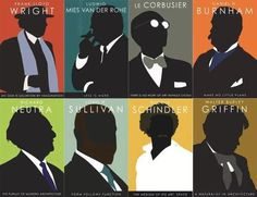 Famous #architects in silhouette