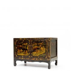 Cabinet With Hand Paintings