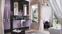 salle de bains douceur violine arabesques carrelage