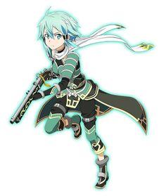 """Sword Art Online"" Smartphone Games Get Valentine's Art Sinon Ggo, Kirito, Sword Art Online Asuna, Loli Kawaii, Kawaii Anime, Shino Sao, Full Metal Alchemist, Accel World, Valentines Art"