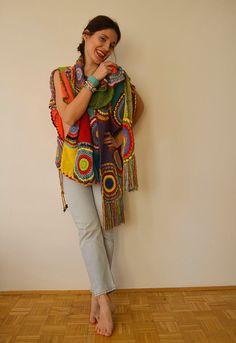 Más el chaleco de suéter tamaño ropa mujer  ganchillo hilado