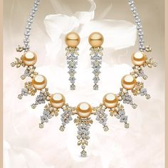 Warm and lustrous golden South Sea pearls feature in this magnificent set from our Masterpiece Collection - with 39.24cts yellow and white diamonds in 18kt white and yellow gold. #yokolondon #yokopearls #pearls #goldenSouthSeapearls #goldenpearls #diamonds #yellowdiamonds #necklace #finejewellery #masterpiece #luxury #luxuryjewellery #jewelleryset #pearlsanddiamonds #earrings #jewellery